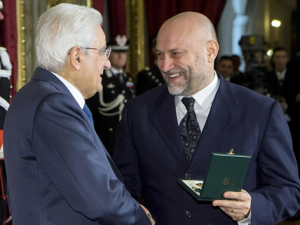 Onorificenza al merito<br>Mattarella premia Marco Ottocento per la solidarietà