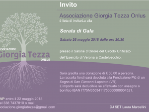 Serata di Gala<br>Associazione Giorgia Tezza Onlus